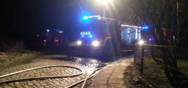 Pożar szybko opanowano, jednak ford mondeo spalił się doszczętnie.
