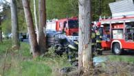 Śmiertelne wyprzedzanie – zginął około 30-letni kierowca. Najprawdopodobniej nie spojrzał w lusterko przed manewrem.