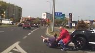 Dużo szczęścia miał rowerzysta, który został potrącony koło Mc'Donalds.