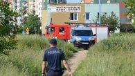 Małym pożarem zakończyła się libacja w zaroślach między ul. Jana Pawła II, a ul. Kochanowskigo.