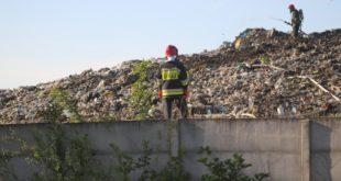 Pożar śmieci na wysypisku