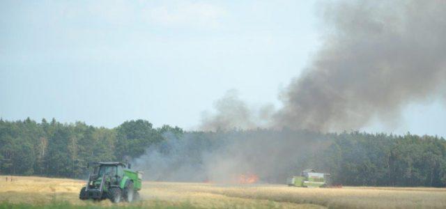 Sześć jednostek straży pożarnej gasiło pożar łanu zboża koło Siedlec. Ogień szybko ugaszono. Straty są niewielkie.