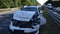 Kolejny wypadek na krajowej trójce na pasie do Polkowic. Dwie kierujące dwoma samochodami kobiety zostały ranne.