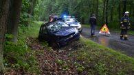 Peugeot 206 wylądował w rowie około kilometra przed miejscowością Gwizdanów. Kierująca pojazdem trafiła do szpitala.