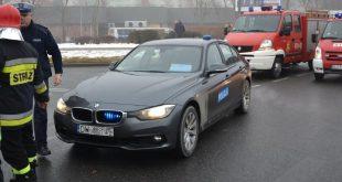 Policyjne BMW jeździ w Lubinie