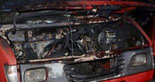 Spłonęło auto na parkingu