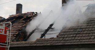 W Gorzycy spłonęło poddasze – FOTO