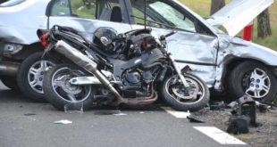 Wypadek motocyklistów. Wjechała w nich honda