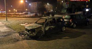 Pożar auta na ul. Żurawiej