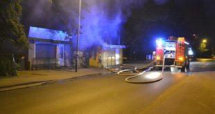 Pożar na targowisku w Ścinawie