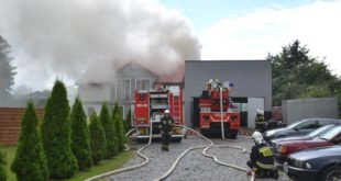 Piorun spowodował pożar domu w Ścinawie