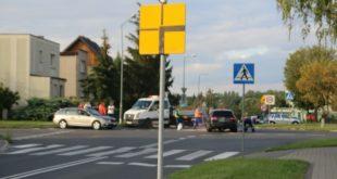Kolizja na skrzyżowaniu ulic Parkowej i Wierzbowej